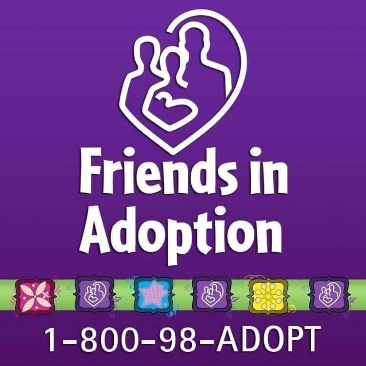 Friends in Adoption logo in purple