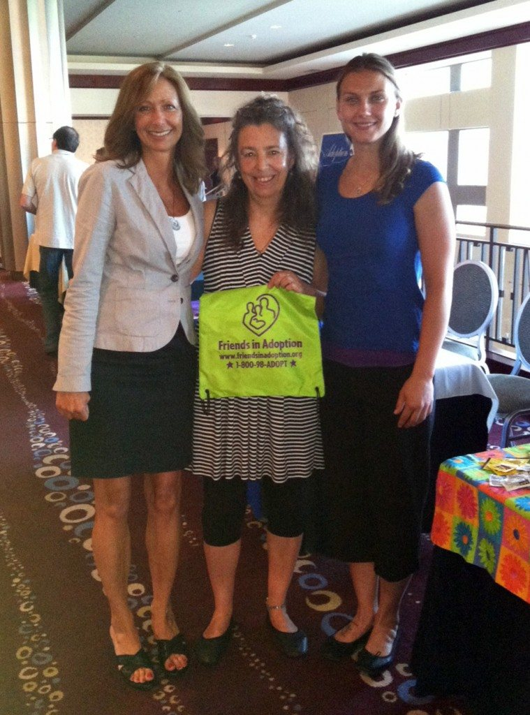 Lynn, Dawn Smith-Pliner (FIA Founder and Director), and Jessie Jo (Bith Mother) at the Quad-A conference.
