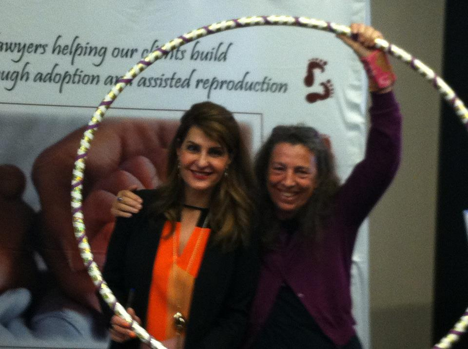 Nia Vardalos with Dawn Smith-Pliner (Founder of Friends in Adoption)