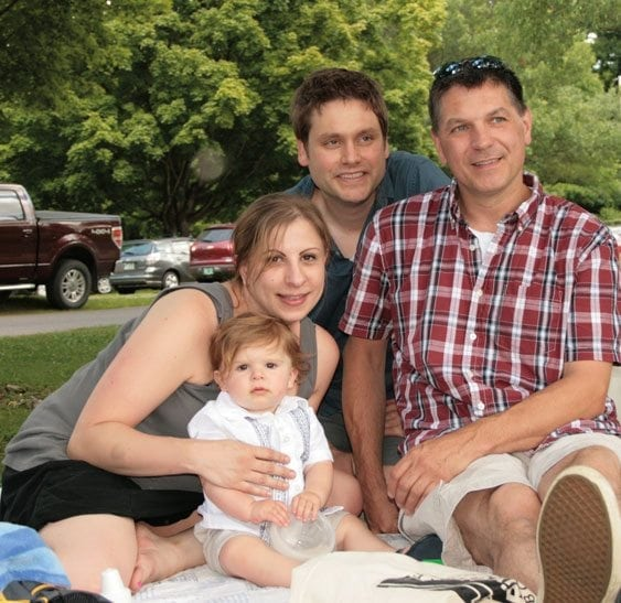 Birth mother, baby, and adoptive parents