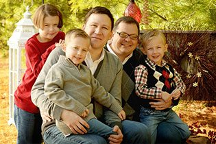 The Loretto family is one of the many LGBT families who adopted with the help of Friends in Adoption