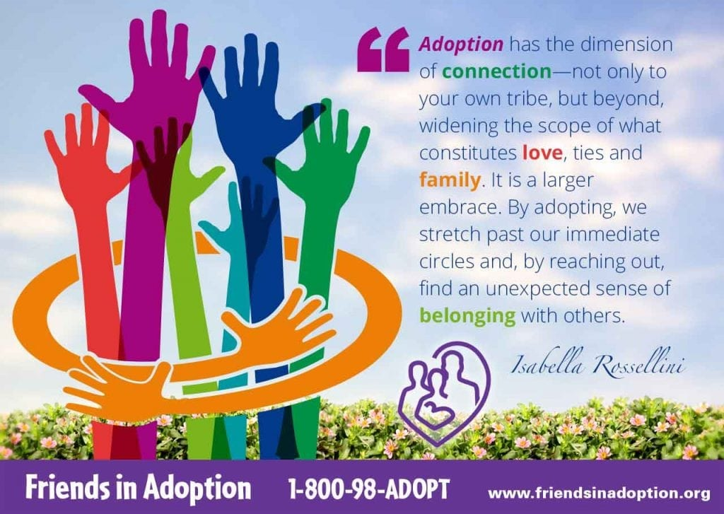 Adoption quote by Isabella Rossellini