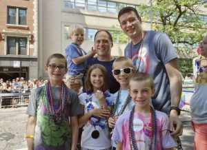 Kevin Neubert and Jim Gorey, a two-dads & five-kids family
