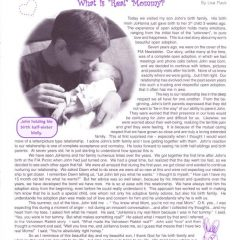 "What is a ""Real"" Mommy? A Friends In Adoption Newsletter Article from 2002"