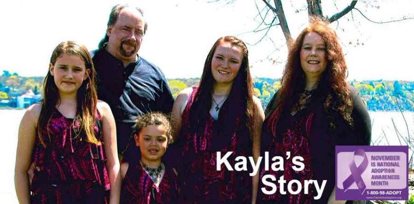Kayla with her family. From left to right, Sarah, Bob, Ava, Kayla, and Lanie.