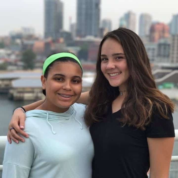 Kayleigh and Abby in Vancouver, FIA alumni