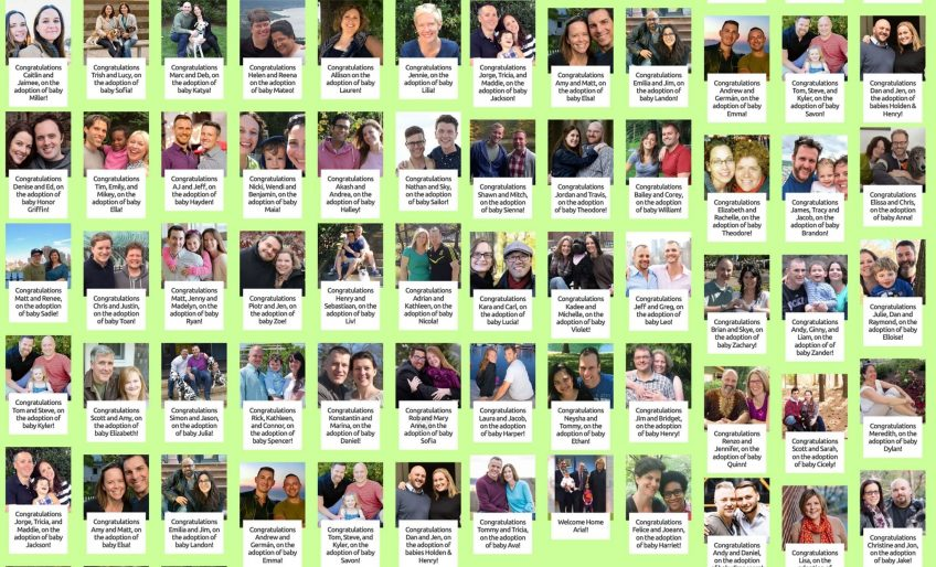 Families who have successfully adopted with FIA