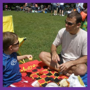 Chad and Keegan at the FIA annual picnic in 2009